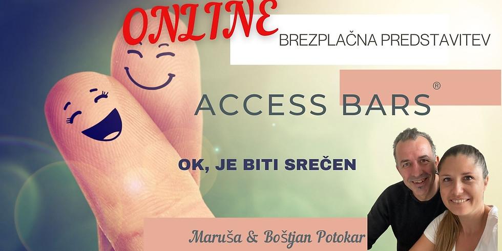 Online: Predstavitev Access Bars® z Marušo in Boštjanom