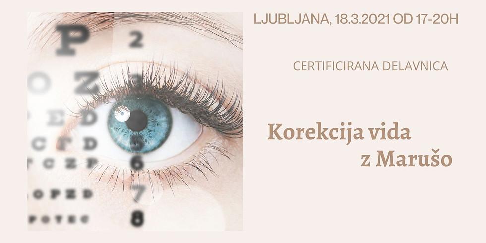 Ljubljana: Korekcija vida z Marušo