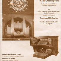 Dedication COncert of Aultz-Kersting Organ, 1982