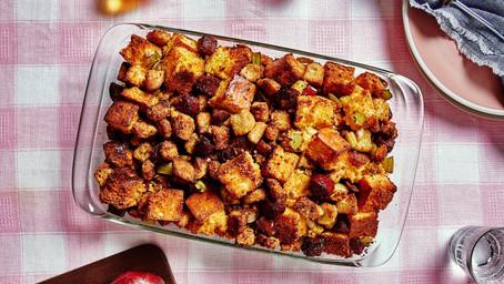 Cornbread and Finocchiona Casserole Stuffing