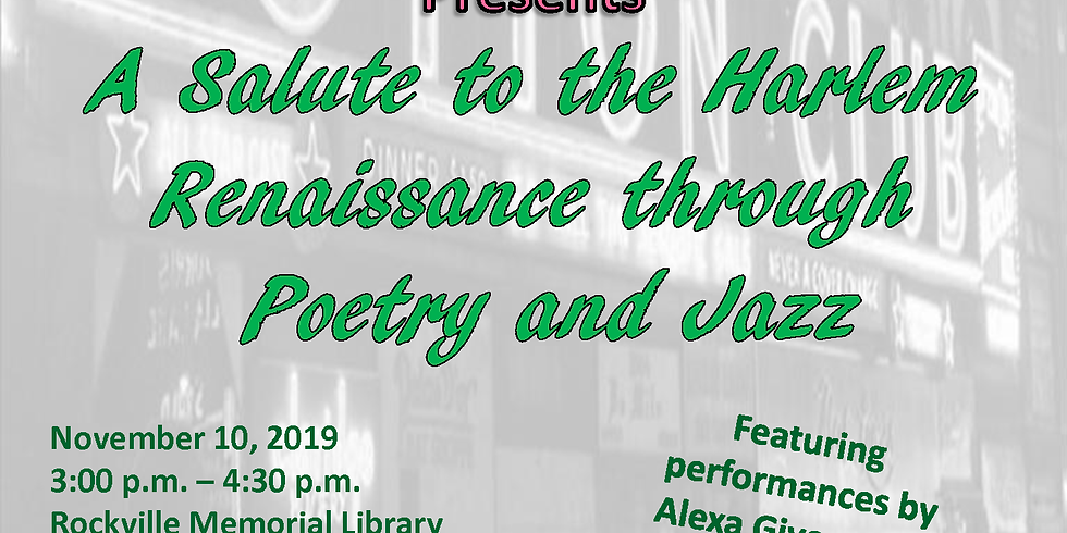 A Salute to the Harlem Renaissance through Jazz and Poetry