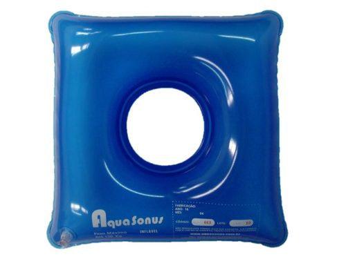 Almofada inflável quadrada com orifício