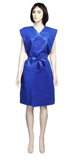 Avental descartável azul