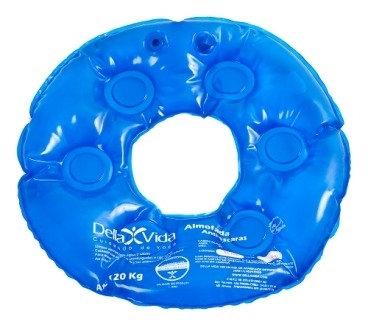 Almofada inflável agua redonda com orifício