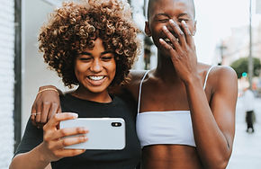 Two Black Women Laughing
