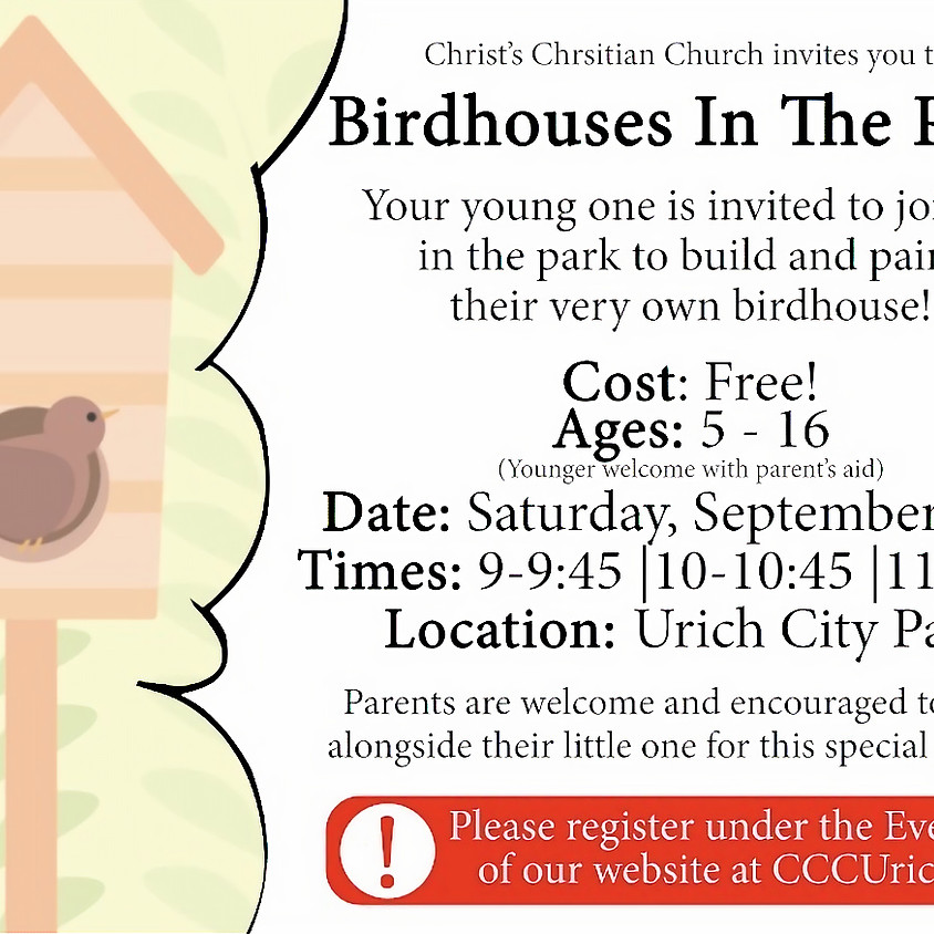 Birdhouses In The Park - 11 AM