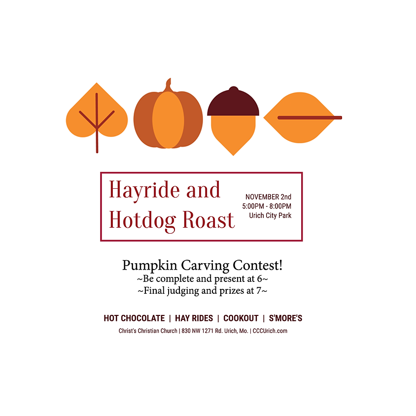 Hayride | Hotdog Roast | Pumpkin Carving Contest