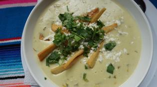 Green Enchilada Soup
