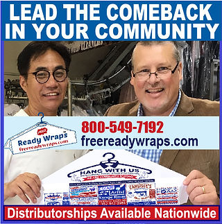Bill Jarvis and Free Ready Wraps dry cleaning sponsor