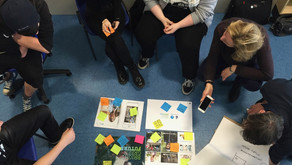 Boomsatsuma team met in a workshop to discuss implementing the mural project in Bristol School.