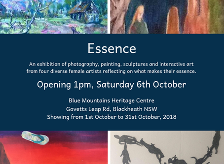 Essence – Blue Mountains Heritage Centre – 1pm Saturday 6th October