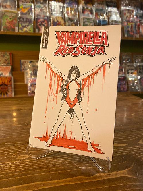 Vampirella Boş Kapak - Muharrem Yetiş Orijinal Sanat
