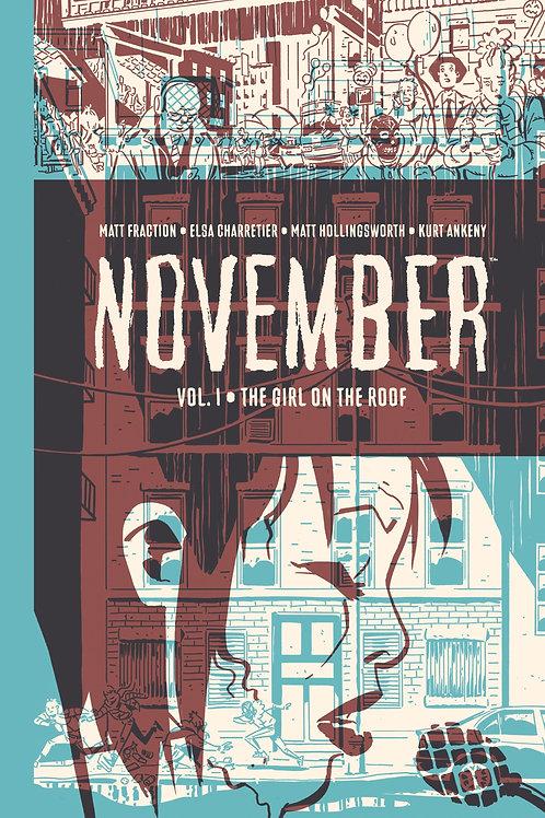 November Volume 1 The Girl on the Roof HC