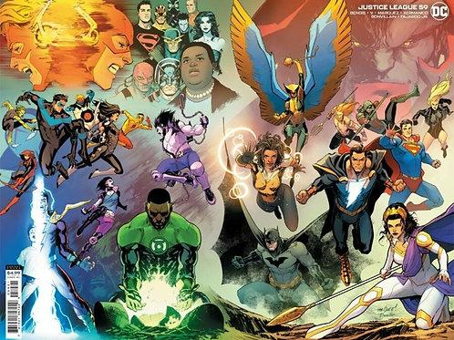 Justice League #59 Wraparound Variant Cover