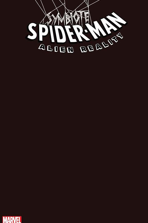 Symbiote Spider-Man Alien Reality #1 Black Blank Cover