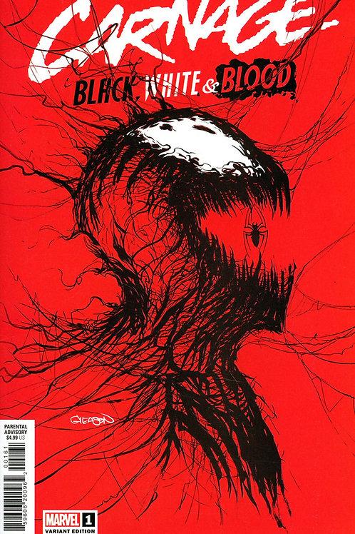 Carnage: Black, White & Blood #1 Gleason Variant