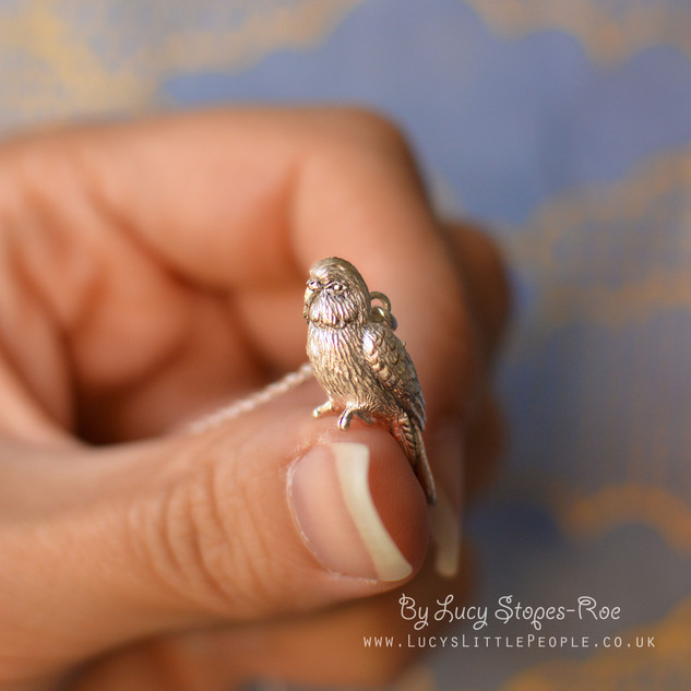 Silver Budgie Pendant
