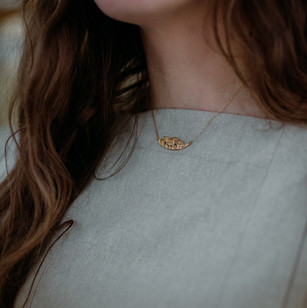 Gold Mushroom Patch Necklace