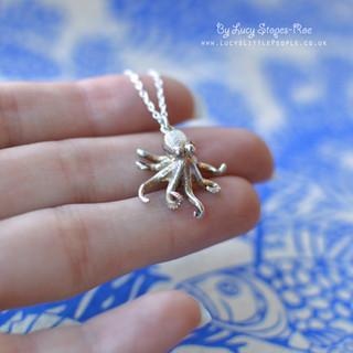 Silver Octopus Pendant