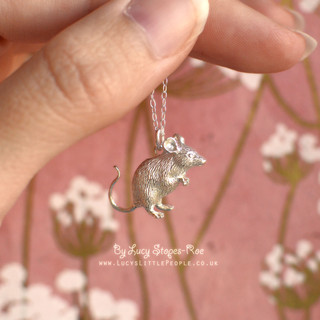 Silver Mouse Pendant