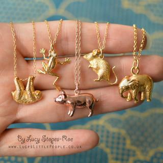 Gold Animal Pendants