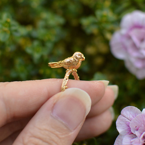 Conure Parrot Ring Solid Gold