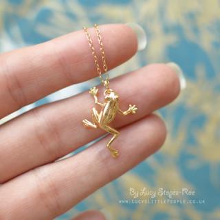 Gold Frog Pendant