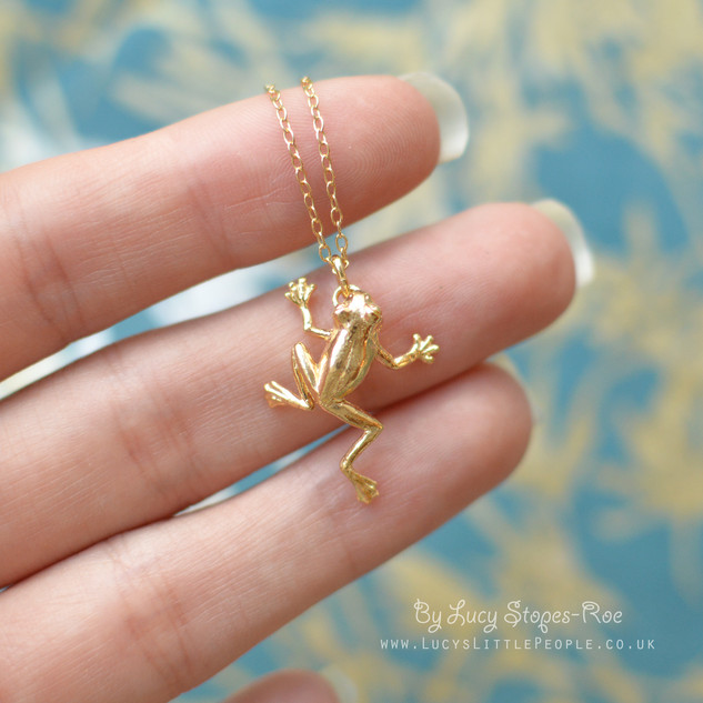 Gold Frog Pendant