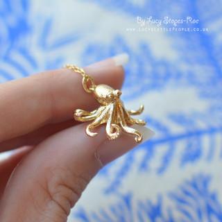 Gold Octopus Pendant