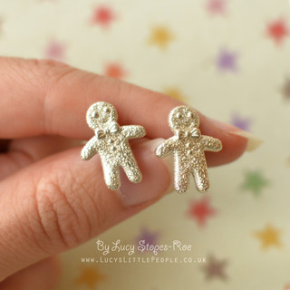 Silver Gingerbread Studs