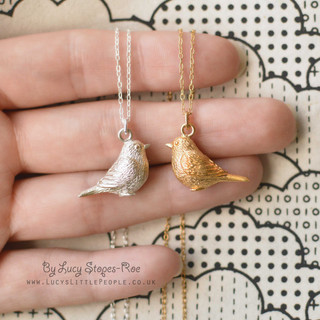 Silver and Gold Bird Necklaces
