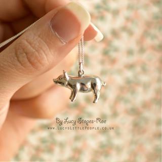 Silver Pig Pendant