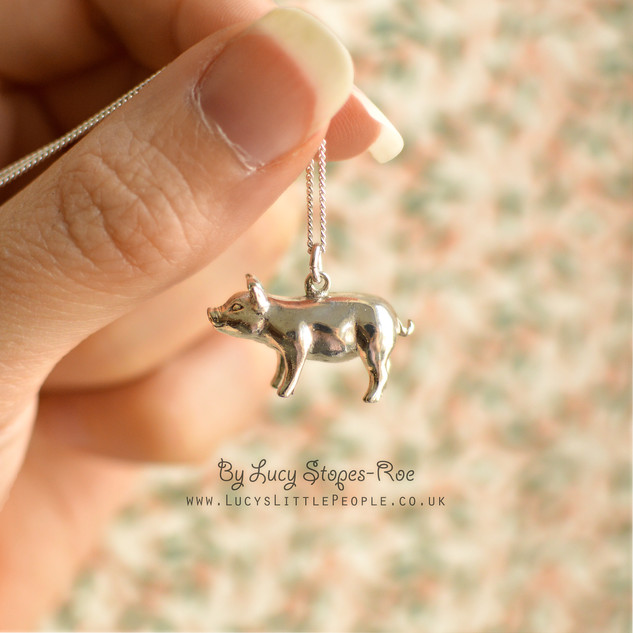 Silver Pig Pendant