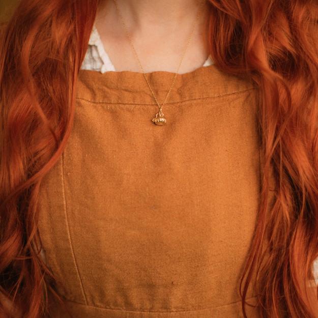 Gold Pumpkin Pendant