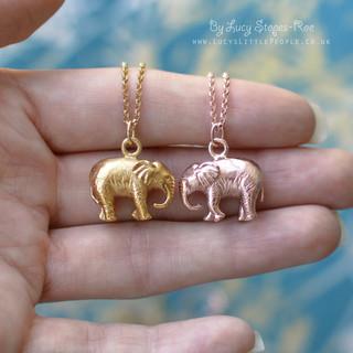 Gold Elephant Necklaces