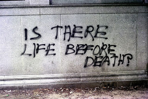 %22Is there life before death?%22 Boston
