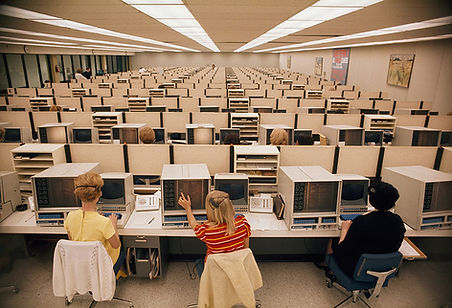 Operators man computers at Eastern Airli