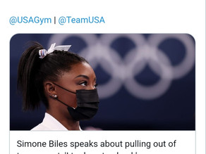 Simone Biles, puts emphasis on mental health, receives wholehearted support