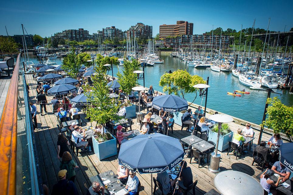 bridges restaurant patio special events.