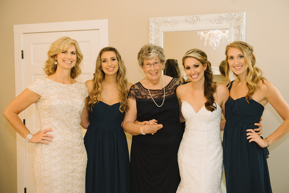 Betsy (left) as the fit mother-of-the-bride!