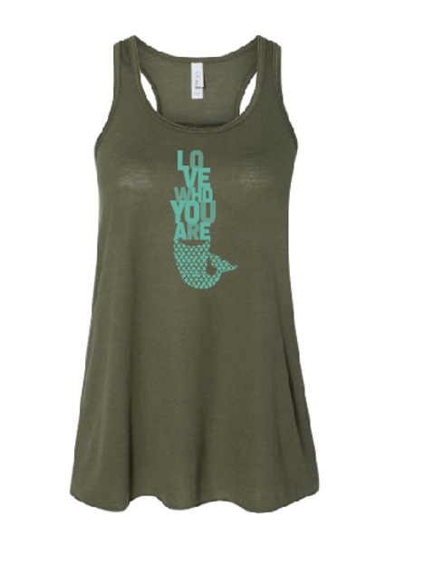 Love Who You Are Flowy Racerback Tank
