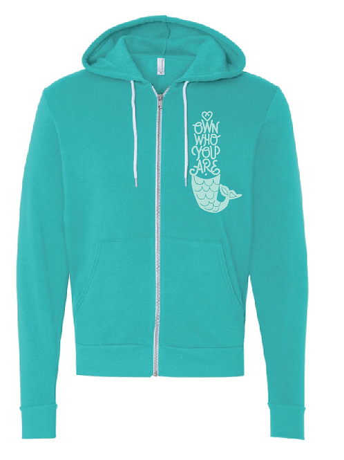 Own Who You Are Zip Up Unisex SUPER SOFT Hoody