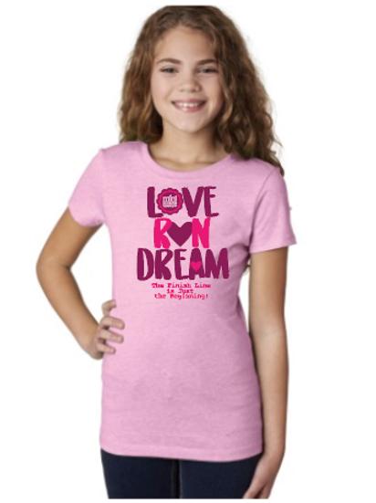 Love Run Dream Youth Shirt Lilac