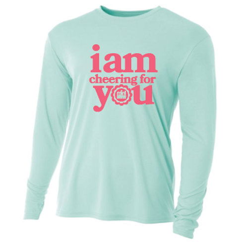 "Youth ""I am cheering for YOU!"" Tech Long Sleeve Tshirt"