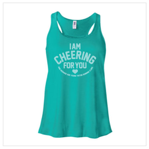 I Am Cheering For You - Teal Tank