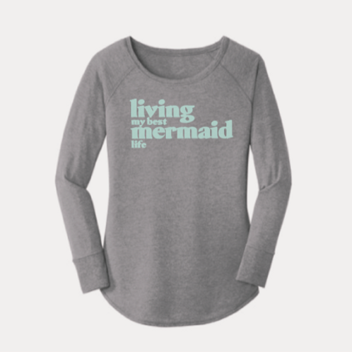 """Living My Best Mermaid Life""Long-sleeves Perfect Tee"
