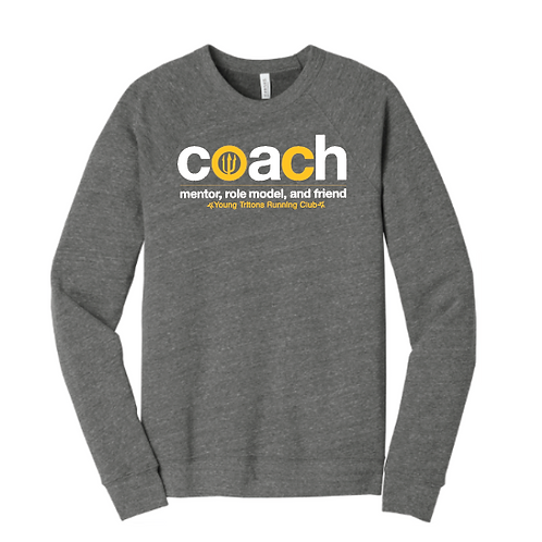 YT Mentor, Role Model, Friend COACH - Deep Heather Crew Neck Unisex Sweatshirt