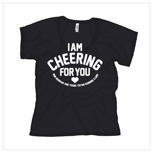 I Am Cheering For You - Black Tech Tee