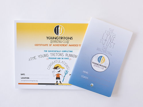 Young Tritons Curriculum 2 & 3 Training Log Pack x 10