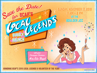 Save the Date for Local Legends Bubbly Brunch!